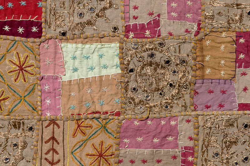 colorful patchwork quilt wall hanging