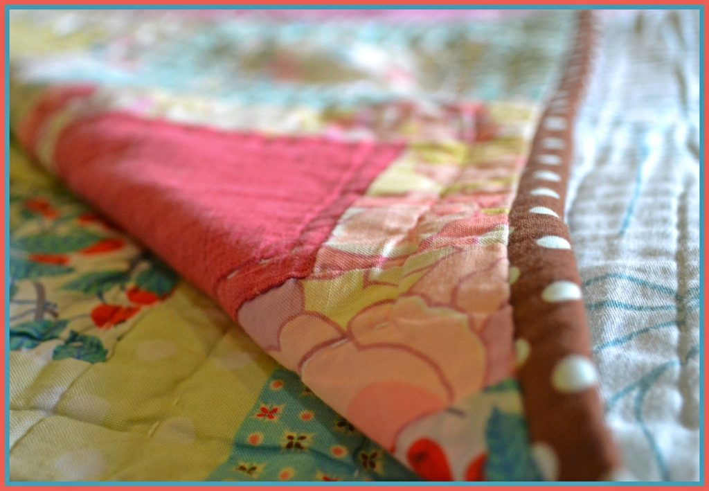 folded quilt hand quilting