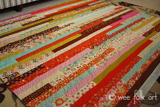 Wee Folk Art quilt jelly roll quilt Patterns