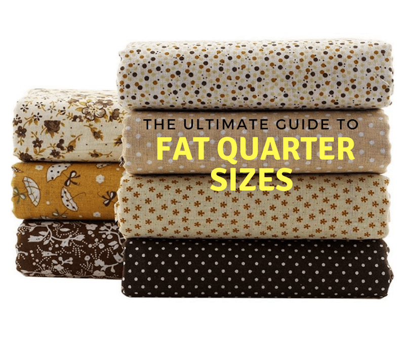 Stack of fabric Fat Quarter Sizes