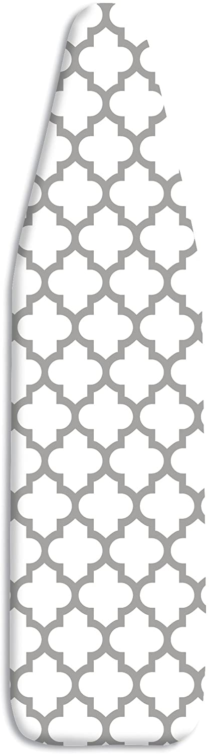 Whitmor Deluxe Ironing Board Cover and Pad – Medallion Gray
