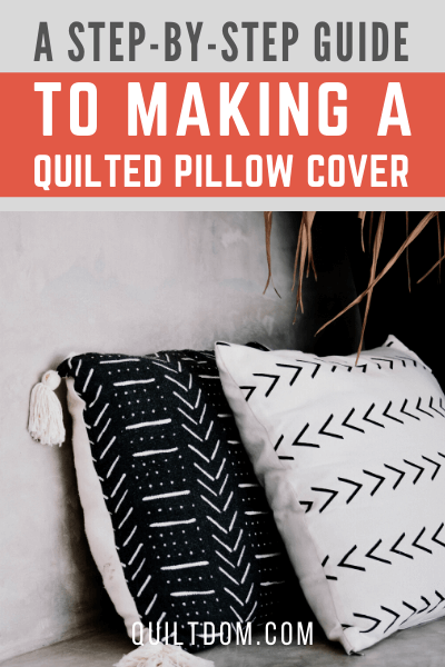 Don't know how to quilt a pillow cover? Read this post with a step-by-step process on how to make a quilted pillow cover.