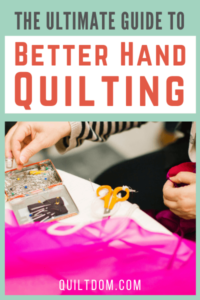 Hand quilting tips for beginners. Learn how to hand quilt and the differences between hand quilting and machine quilting.