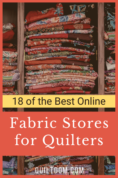 We've done the research and put together 18 of the best online fabric stores. In the post you'll find both U.S. and U.K. stores.
