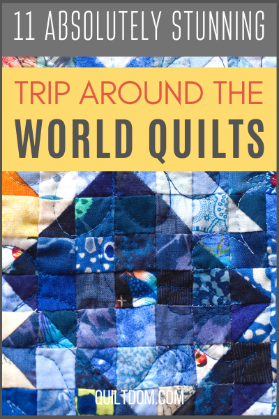 If you are looking for an easy, yet gorgeous quilt pattern, the Trip Around the World quilt pattern might just be the perfect pattern for you!