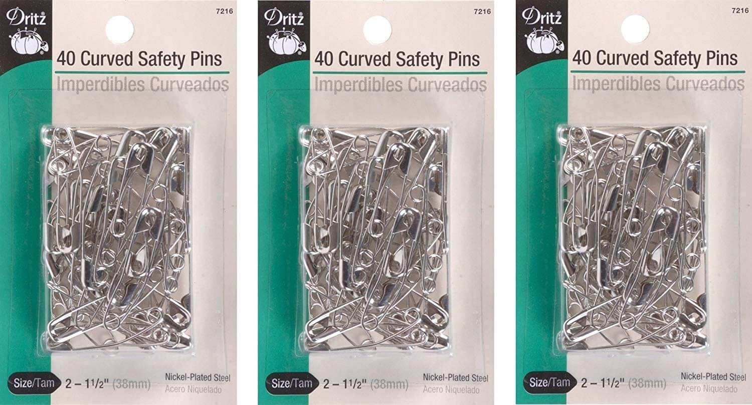 Curved Safety Pins For Quilting 1
