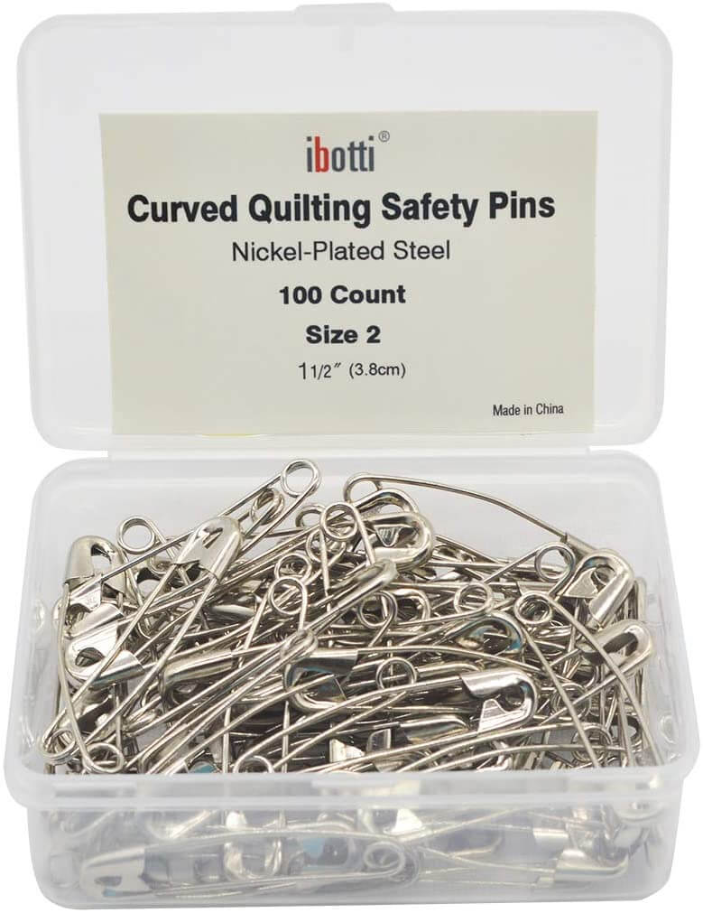 Curved Safety Pins For Quilting 2