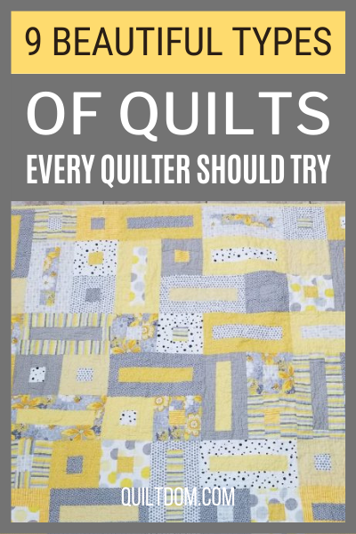 Have you tried creating different types of quilts? We recommend choosing one of these nine different types of quilting patterns for your next project.