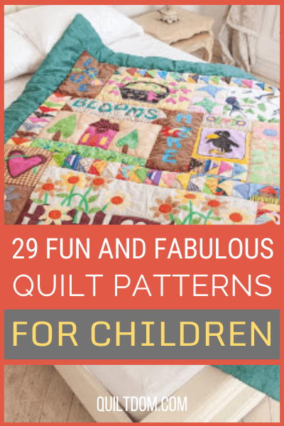 Looking for the perfect quilt pattern to go with your kids bedroom? Check out this list of 29 quilt patterns for children of any theme.