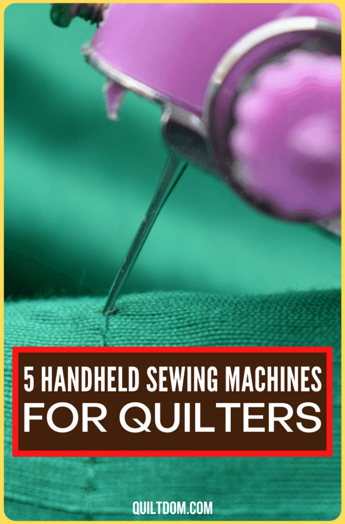 You want to quilt and do your fabric crafts anytime, but you don't have a machine with you. Worry no more and choose from these 5 handheld sewing machines reviewed in this post.