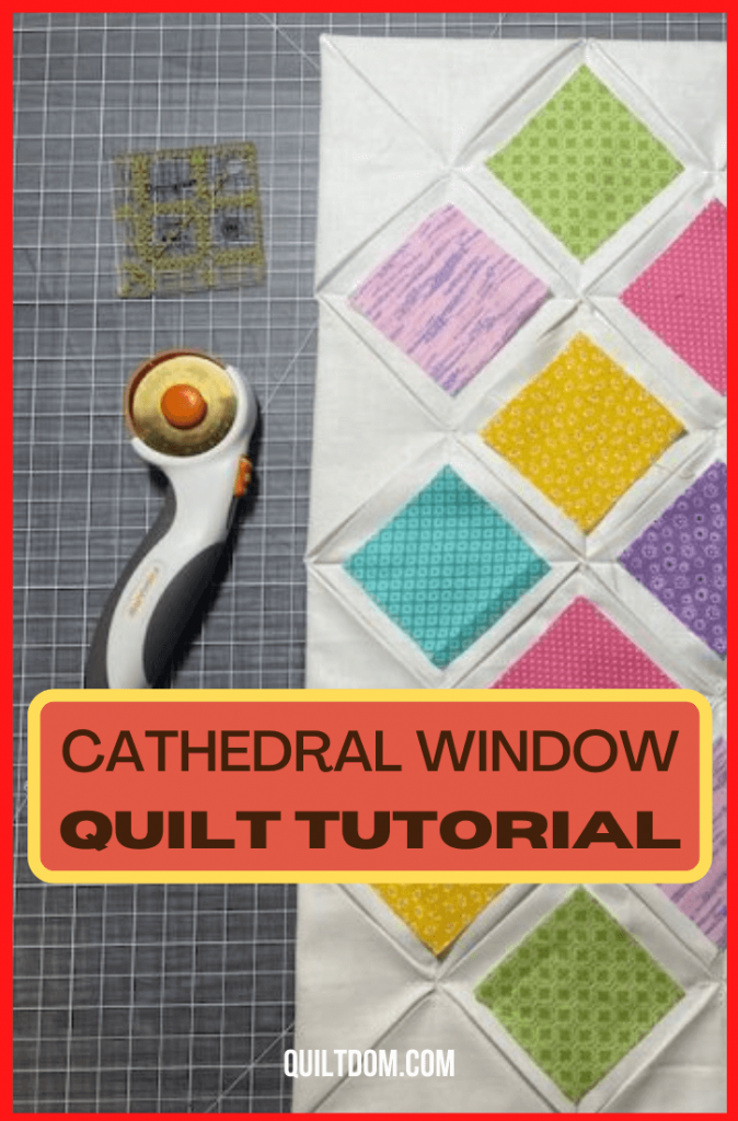 Explore a unique pattern for your next quilting project. Check this post to see and learn how to create a cathedral window quilt pattern.