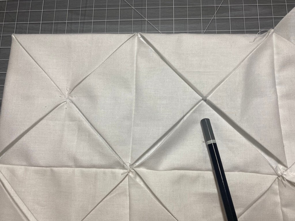cathedral window quilt steps