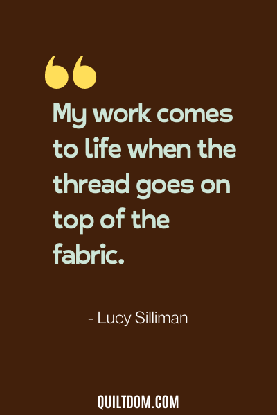 sewing quote from lucy silliman