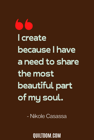 sewing quote by nikole casassa