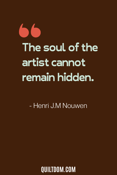 sewing quote by henri J.M Nouwen