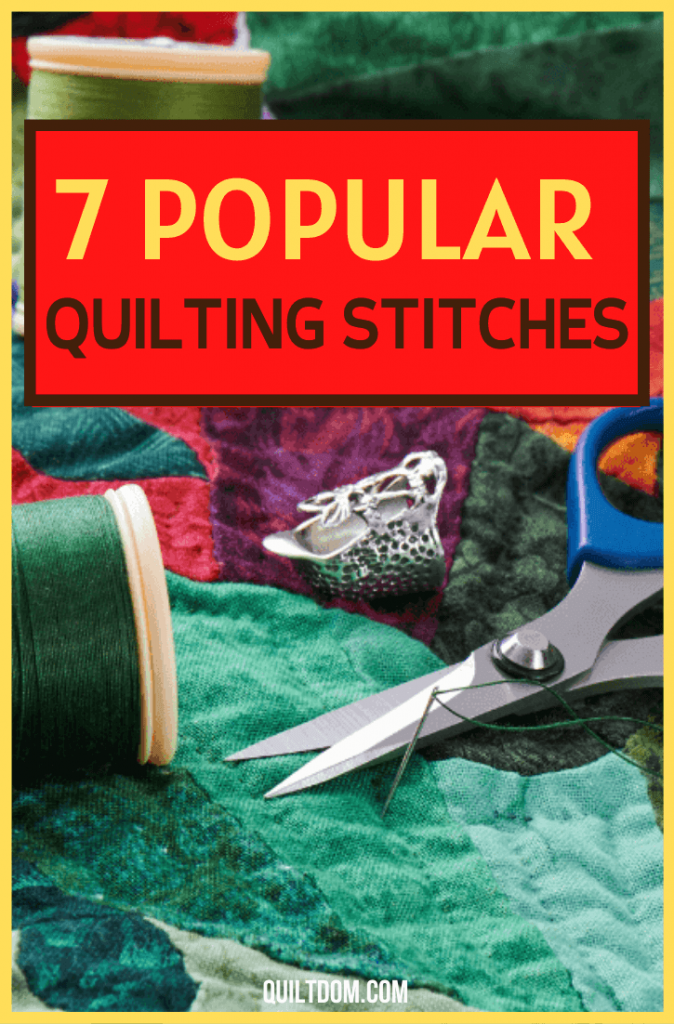 What quilting stitches should you learn in making different fabric crafts? Check this post and see what you should be using in your next quilting project.