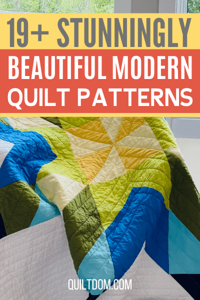 Modern quilt designs are inspiring more quilters to work with new ideas. Check out this post with list of modern quilt patterns.